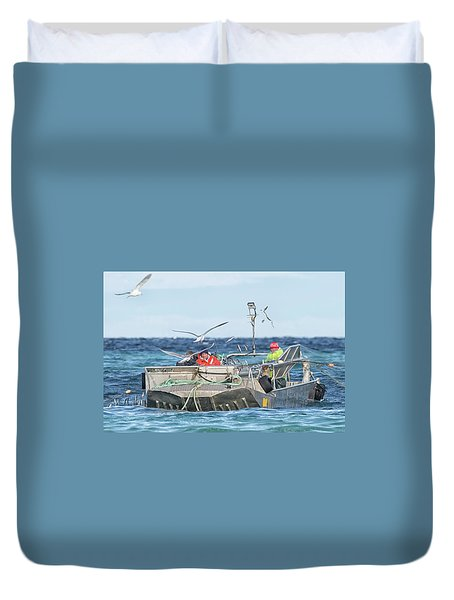 Duvet Cover featuring the photograph Flying Fish by Randy Hall