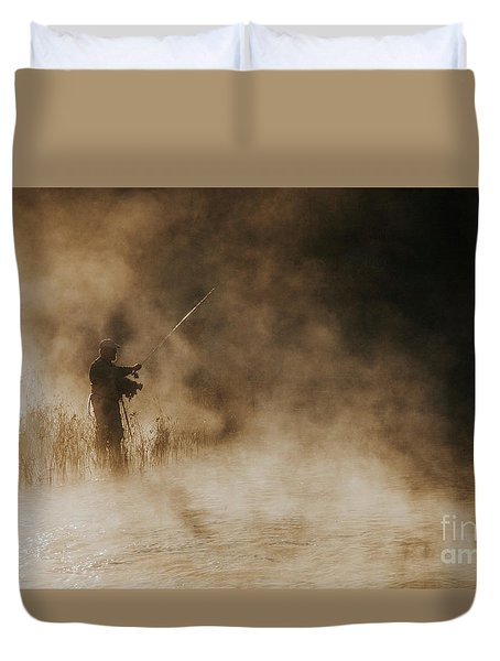 Flying Fishing Duvet Cover by Iris Greenwell