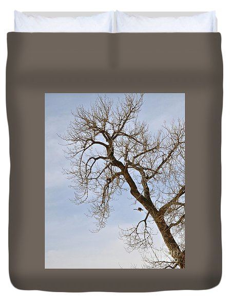 Flying Goose By Great Tree Duvet Cover