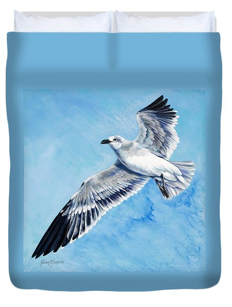 Flying Gull Duvet Cover