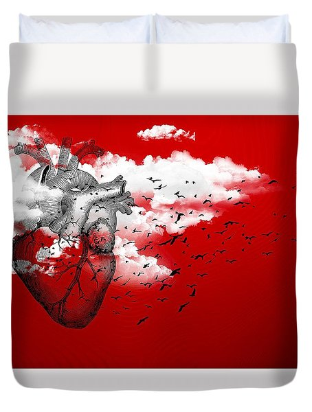Flying High Duvet Cover by Paulo Zerbato
