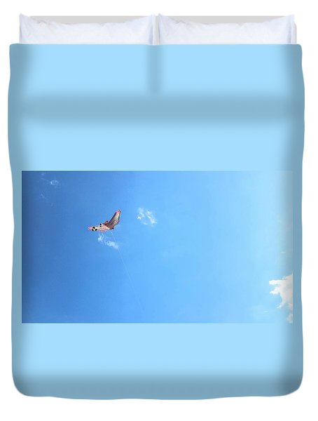 Flying In The Wind Duvet Cover