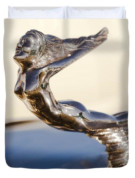 Flying Lady Hood Ornament Duvet Cover by Jill Reger