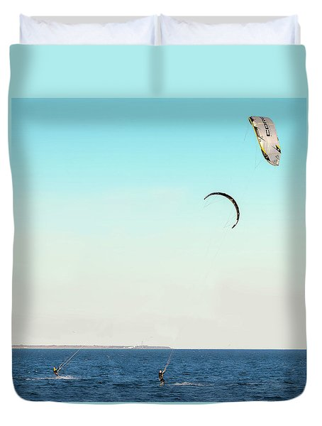 Flying On A Breeze Duvet Cover
