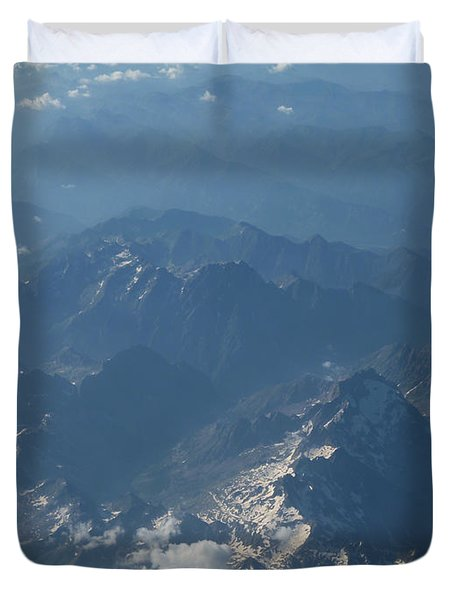 Flying Over The Mountains Duvet Cover