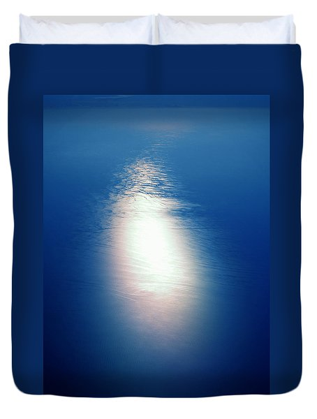 Duvet Cover featuring the photograph Flying Over The Ocean by Colette V Hera  Guggenheim