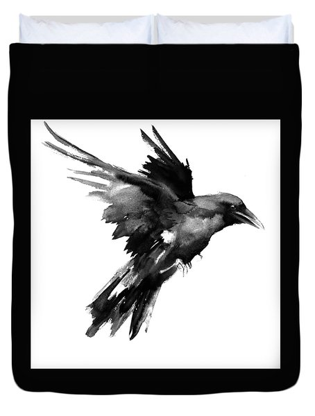 Flying Raven Duvet Cover by Suren Nersisyan