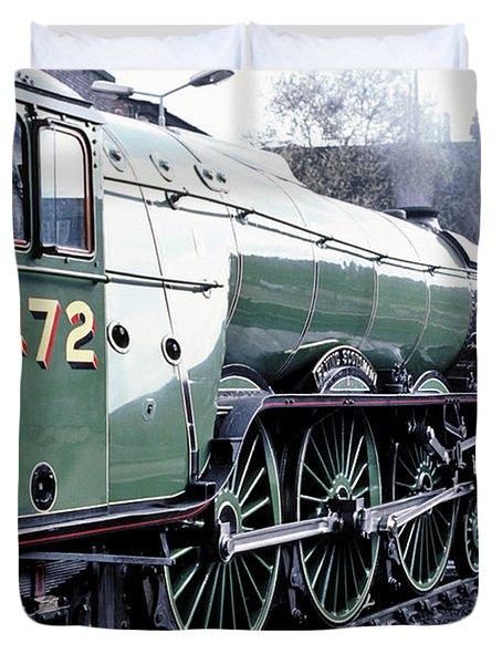 Flying Scotsman Locomotive Duvet Cover