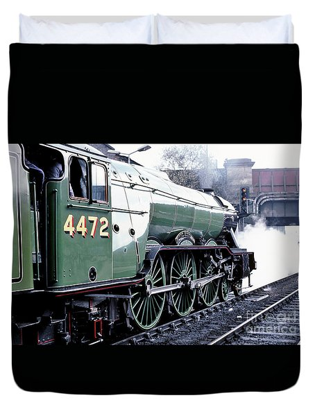 Flying Scotsman Locomotive Duvet Cover