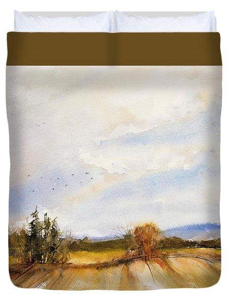 Flying South Duvet Cover by Judith Levins