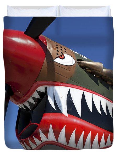 Flying Tiger Plane Duvet Cover