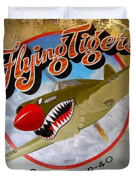 Flying Tigers Duvet Cover