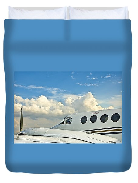 Flying Time Duvet Cover by Carolyn Marshall