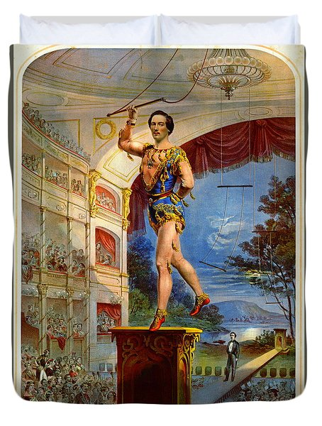 Duvet Cover featuring the photograph Flying Trapeze 1850 by Padre Art