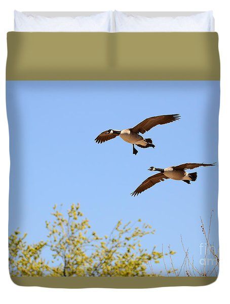 Flying Twins Duvet Cover
