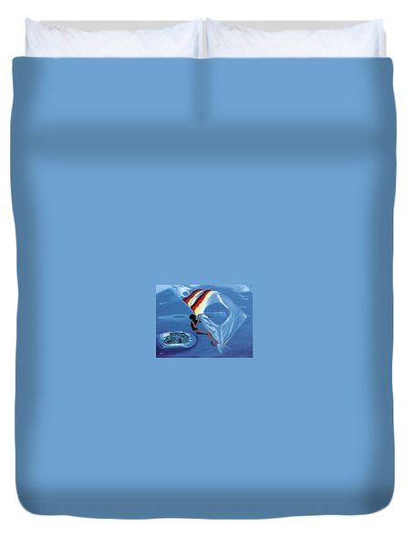 Flying Windsurfer Duvet Cover