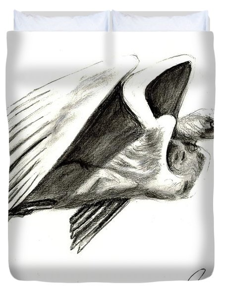 Flying Your Way Duvet Cover
