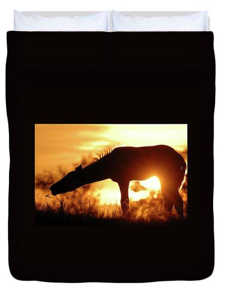 Foal Silhouette Duvet Cover