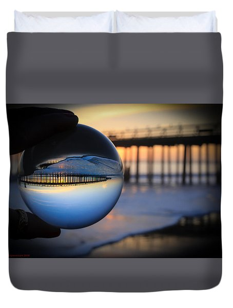 Duvet Cover featuring the photograph Foamy Ball by Lora Lee Chapman