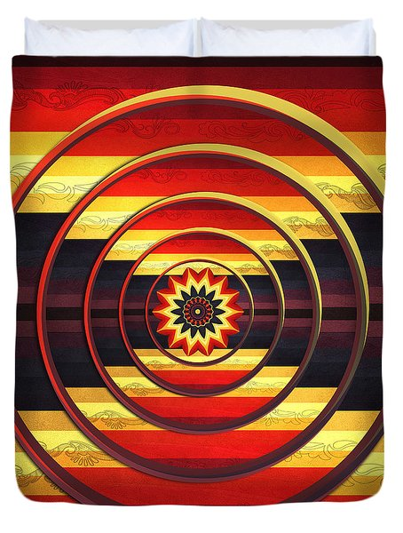 Duvet Cover featuring the digital art Focus by Deborah Smith