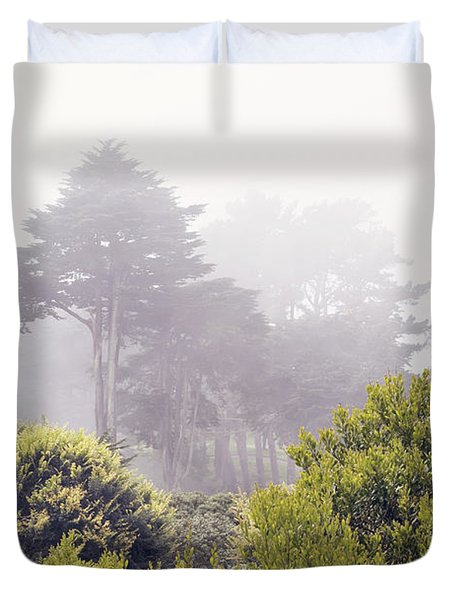 Duvet Cover featuring the photograph Fog At Lands End by Cindy Garber Iverson