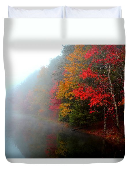Clearing Fog Duvet Cover