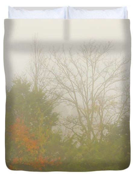 Fog In Autumn Duvet Cover