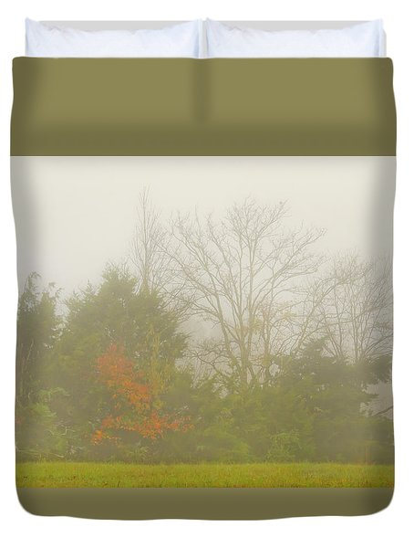 Duvet Cover featuring the photograph Fog In Autumn by Wanda Krack