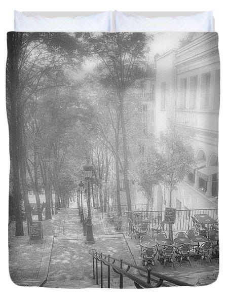 Fog In Montmartre Duvet Cover