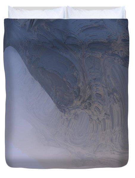 Fog In The Cave Duvet Cover
