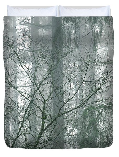 Fog In The Forest Duvet Cover