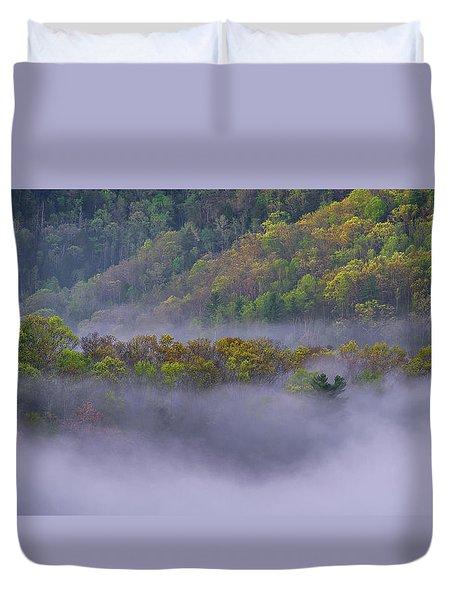 Fog In The Hills Duvet Cover