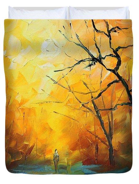 Fog New Duvet Cover by Leonid Afremov