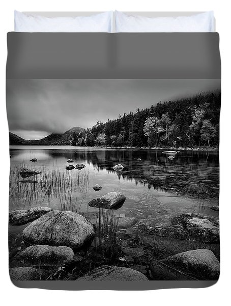 Fog On Bubble Pond Duvet Cover