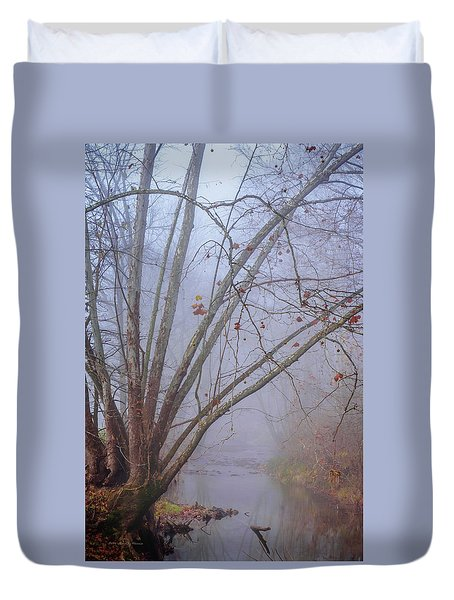 Fog On Buffalo Creek 1 Duvet Cover