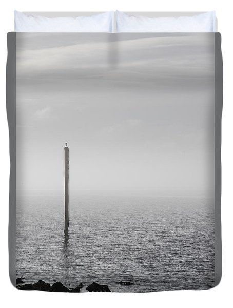 Fog On The Cape Fear River On Christmas Day 2015 Duvet Cover