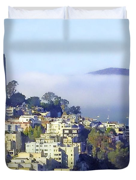 Fog Rolling In Duvet Cover