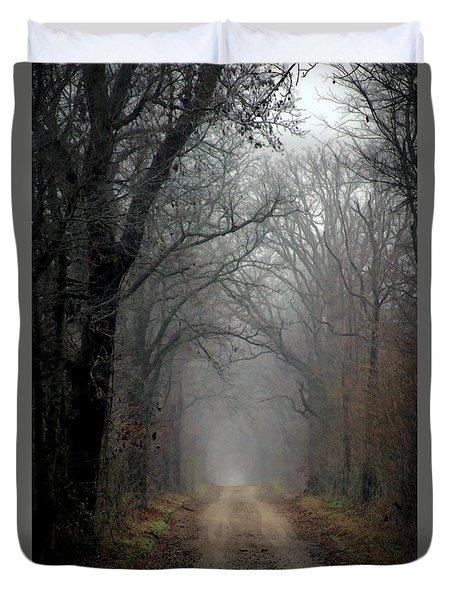 Fog Shrouded Lane  7861 Dp_2 Duvet Cover