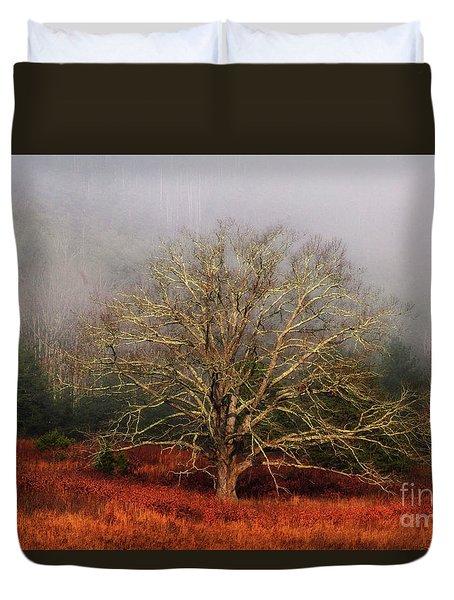 Fog Tree Duvet Cover by Geraldine DeBoer