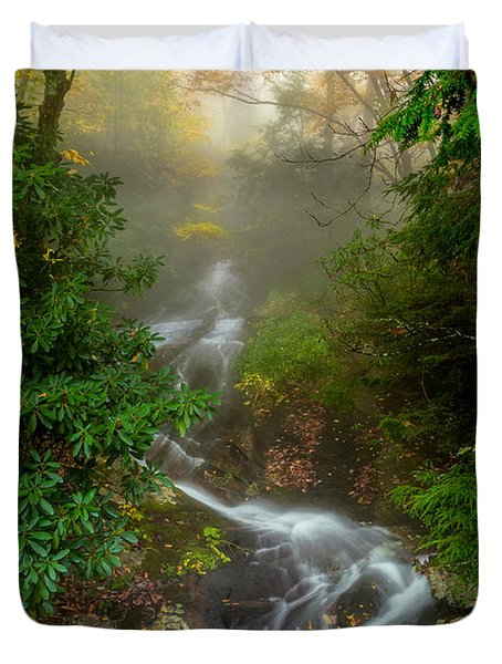 Foggy Autumn Cascades Duvet Cover