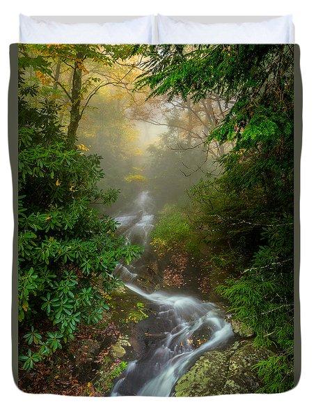 Foggy Autumn Cascades Duvet Cover