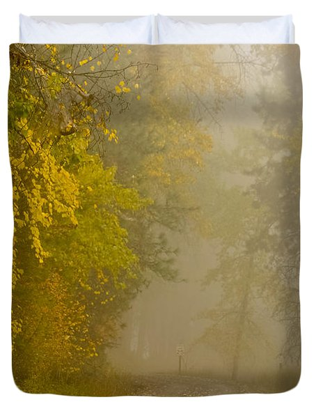 Foggy Autumn Morn Duvet Cover