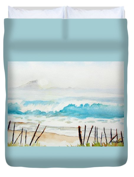 Foggy Beach Duvet Cover