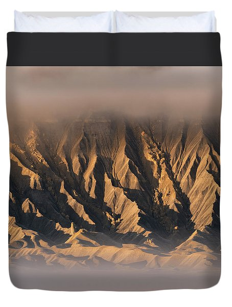 Foggy Butte Duvet Cover