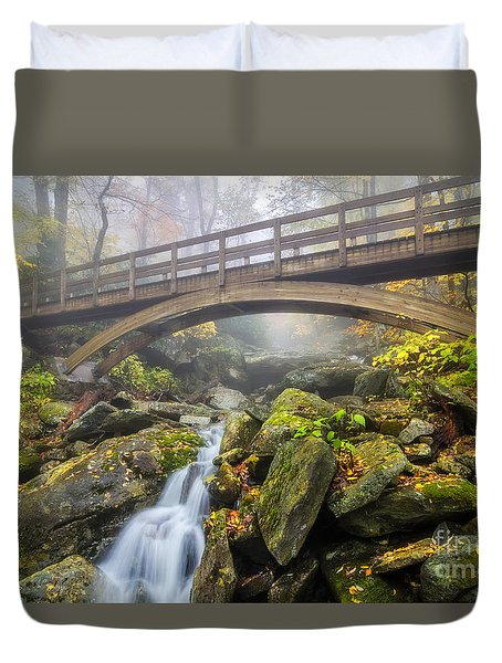 Foggy Crossing Duvet Cover