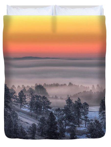 Foggy Dawn Duvet Cover