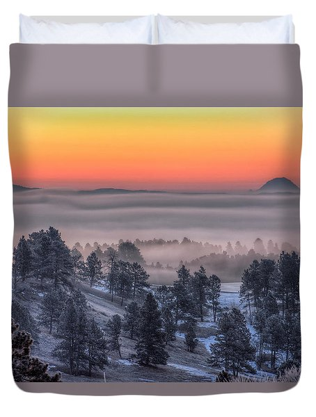 Foggy Dawn Duvet Cover