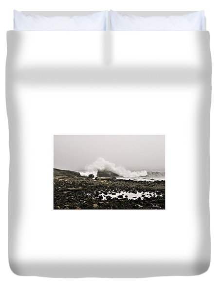 Foggy Day At The Coast Duvet Cover