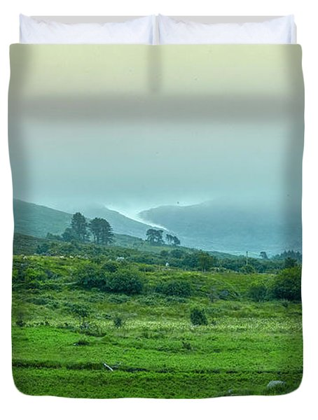 Duvet Cover featuring the photograph Foggy Day #g0 by Leif Sohlman