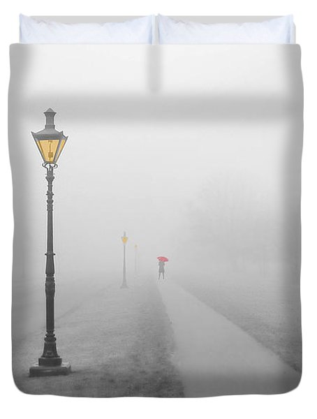 Foggy Day In France Duvet Cover